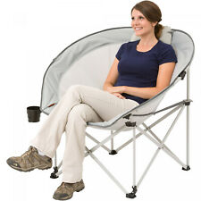 Durable Steel Frame Oversized Cozy Camp Storage Chair Cup Holder Carry Bag Fit