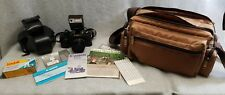 CANON T50 35MM Camera Outfit  244T Flash Lens Case Bag Manuals Roll Kodak Film