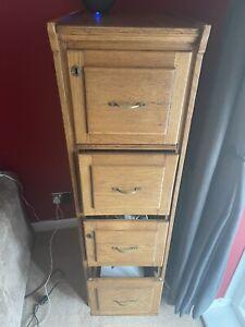 vintage wooden filing cabinet