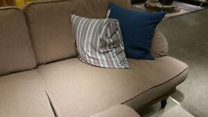 """IKEA Stocksund 3 Seat Sofa SLIPCOVER Ljungen BEIGE COVER Velvet 78"""""""