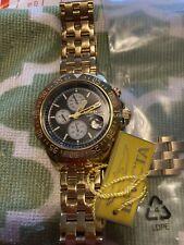Invicta 47MM Aviator Maverick Quartz Chrono All Gold Champagne Dial Watch 21649