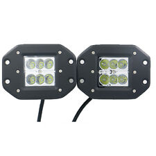 2X 24W Cree LED Work Light  Spot Flush Mount Fog Lamp For  SUV Truck Jeep 4x4