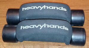 Set of 2 Dumbbells w/ 2lb Heavy Hands End Weight Heavyhands 4 Pounds Total Black