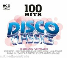 DISCO CLASSICS DANCE MUSIC COLLECTION NEW 100 HITS 5 CD ORIGINAL SONGS & ARTISTS