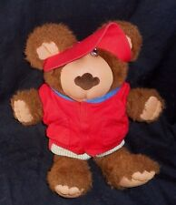 VINTAGE FURSKINS XAIVER ROBERTS SPITBALL RED TEDDY BEAR STUFFED ANIMAL PLUSH TOY