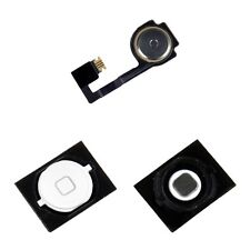 iPhone 4S 4GS White Home Menu Button w/ Flex Cable Ribbon + Rubber Gasket Seal