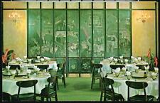 SAN FRANCISCO CA Golden Pavilion Restaurant Coromandel Screen Vintage Postcard