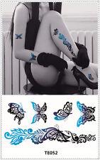 Butterfly Tattoo Sticker DIY Keep 3-5 days Waterproof 9x17cm TE052