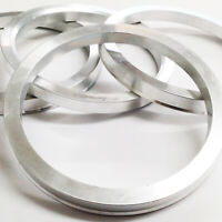 Aluminium Metal Spigot Rings Set Of 4 66.6 - 57.1 To Suit Audi VW T4 Mercedes