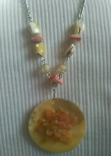 shell styled beaded necklace