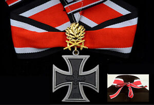 WWII WW2 German Army Knights Cross of the Iron Cross with Oak Leaves Swords Gold