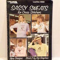 Sassy Sweats Fun 9 Counted Cross Stitch Patterns Crafts