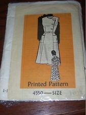 1960s READER MAIL #4550-LADIES RETRO SLEEVELESS-SIDE CLOSURE DRESS PATTERN 18½