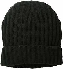 ORIGINAL LEVI`S 2X2 RIBBED CUFF BEANIE HAT. BLACK, ONE SIZE, NEW