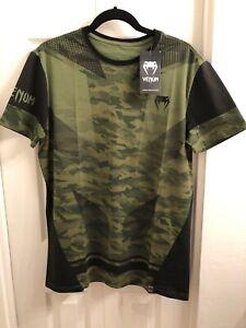 Venum UFC MMA Trooper Forest Camo Black Shirt Mens Size Large NWT