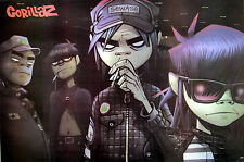 "GORILLAZ ""MENANCING LOOK ON BAND'S FACES"" POSTER FROM ASIA - Damon Albarn, Blur"