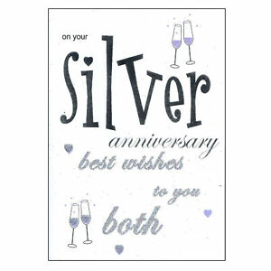 Greeting Card with Envelope - Silver Anniversary LP5037