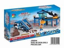Woma Busy Piers Hafen mit Truck, Kran, Gebäude 5 in 1 Bausteine Set J5669A