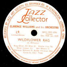 CLARENCE WILLIAMS & ORCH. Wildflower Rag / Midnight Stomp Schellack 78rpm X2870