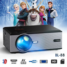 4K SD Full HD 1080P Mini LED Portable Projektor Heimkino Beamer Home Multimedia