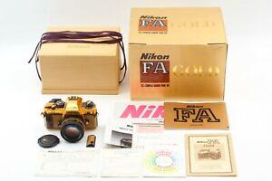 【 UNUSED  in BOX 】 NIKON FA GOLD GRAND PRIX 84 Camera w/ Ai-s 50mm f/ 1.4 JAPAN
