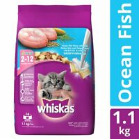 Whiskas Kitten Dry Cat Food, Ocean Fish Flavour - 1.1 kg Pack