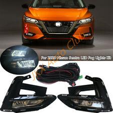 For Nissan Sentra 2020 Bumper Bezel Driving Lamp LED Bulb Fog Light Wiring k Kit