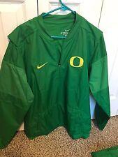 NWT New Oregon Ducks Nike Quarter Zip Lockdown Apple Green Jacket Size Medium
