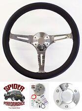 "80-87 GMC Suburban GMC pickup steering wheel 15"" BLACK LEATHER"