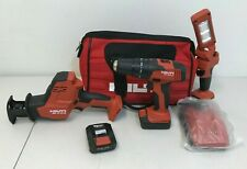 Hilti Cordless Power Tool Set w/ 2 Batteries & Charger