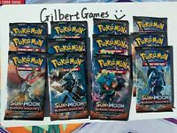 12x Pokemon Burning Shadows Unopened Packs Unsearched GilbertGames Ship Fast