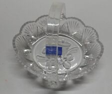 "Studio Nova Holiday Bells 5 1/2"" Basket with Handle Candy Nuts Serving Dish New"