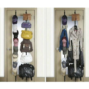 Storage Save Space Over Door Straps Hanger for Ches Bag Hat 7Hook #A05