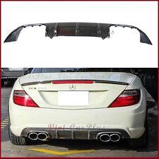 Carbon Fiber Rear Diffuser 12-14 BENZ R172 SLK250 SLK300 SLK350 SLK55 AMG Bumper