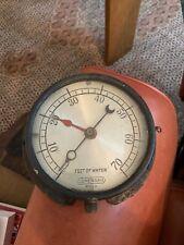 Antique Lonergan Vintage Crescent Moon Needle Pressure Gauge Steampunk