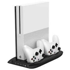 Xbox Console Stand One S Controller Charging Dock Vertical Dual With 4 Ports USB