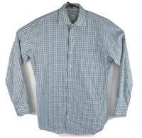 Peter Millar Mens Plaid Long Sleeve Button Up Casual Shirt Cotton Size M
