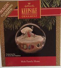 Mole Family Home 1991 Hallmark Keepsake Ornament Magic Flickering Lights Qlx7149