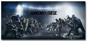Tom Clancys Rainbow Six 6 Siege Game Silk Wall Poster Wallpaper 17x37 24x52inch