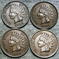 1895 1903 1907 1908 Indian Cent Penny ---- STUNNING Lot ---- #G233
