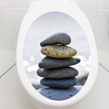 """WANDKINGS WC Aufkleber Sticker """"Stones Steine"""" Badezimmer Toilette Bad Zimmer"""