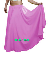 Orchid - Chiffon 2 Layer Gypsy Skirts Full Circle Belly Dance Double JUPE Rock