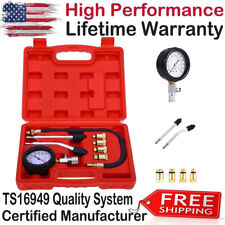 8 Pcs Pro Petrol Gas Engine Cylinder Compression Tester Gauge Kit Motor Auto Red