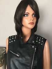 Vest Beverly Hills Polo Club  Studs Black Leather Like Women L Fashion Designer
