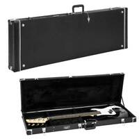 Electric Bass Guitar Hardshell Case Wood Carrying Portable Box Square Waterproof