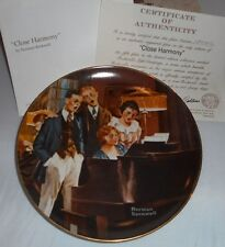 1983 Close Harmony 5th in Light Campaign Series Norman Rockwell Collector Plate