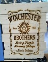 winchester brothers custom wood sign poster