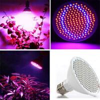 New E27 200LED Grow Light Lamp Veg Flower Indoor Hydroponic Plant Full Spectrum