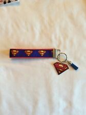 Superman Key Fob Wristlet with Resin And Matching Suede Tassel