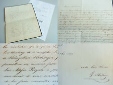 Gustav v. BILLING: Brief HECHINGEN 1847 über TESTAMENT v. Eugénie de BEAUHARNAIS